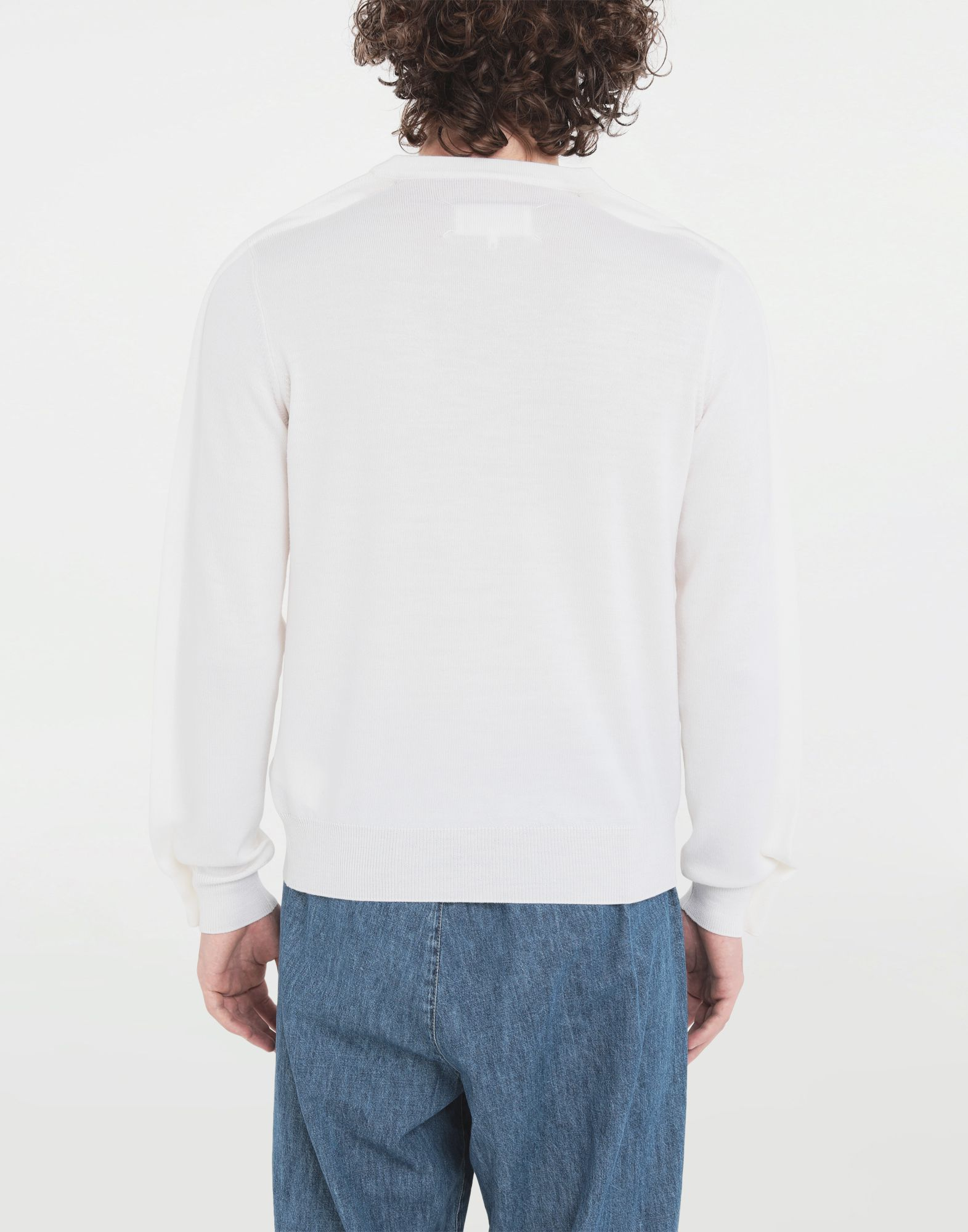 MAISON MARGIELA Outline wool sweater Crewneck Man b