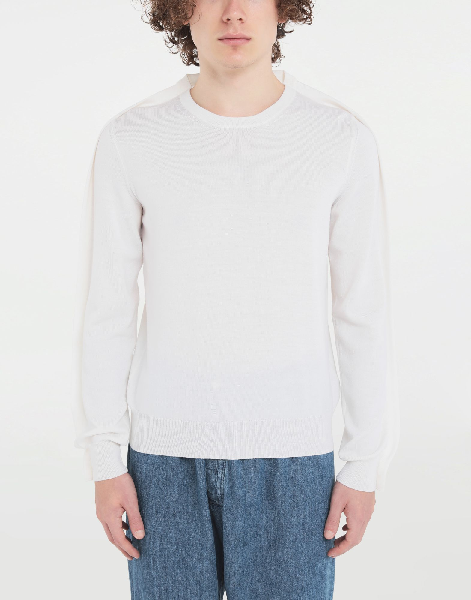 MAISON MARGIELA Outline wool sweater Crewneck Man r