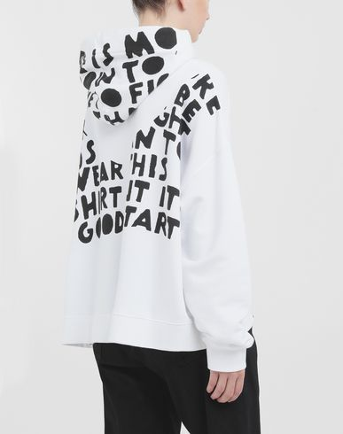 KNITWEAR AIDS Charity sweatshirt White