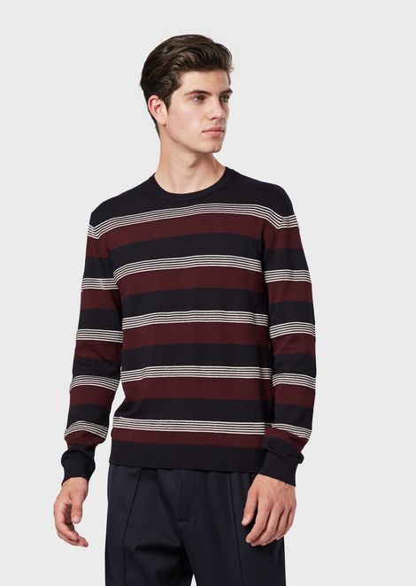 Pullover aus gestreiftem Ottoman