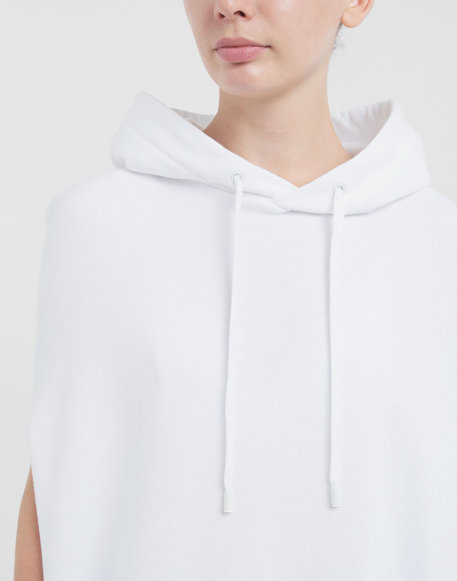 MAISON MARGIELA Long-line hooded sweatshirt Hooded sweatshirt Woman a
