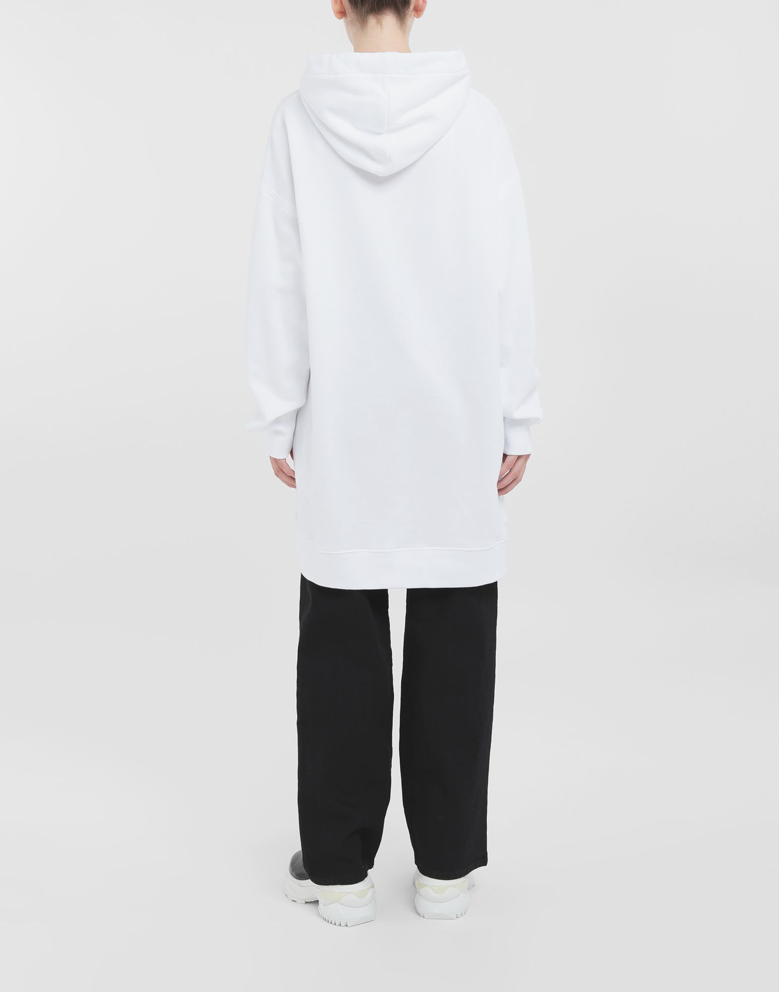 MAISON MARGIELA Long-line hooded sweatshirt Hooded sweatshirt Woman d