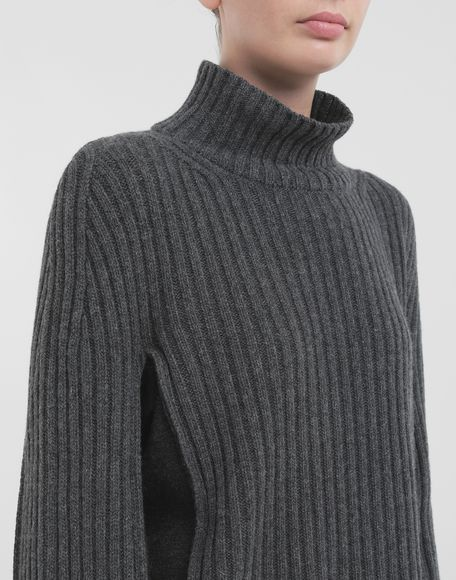 MAISON MARGIELA Turtleneck ribbed wool sweater High neck Woman a
