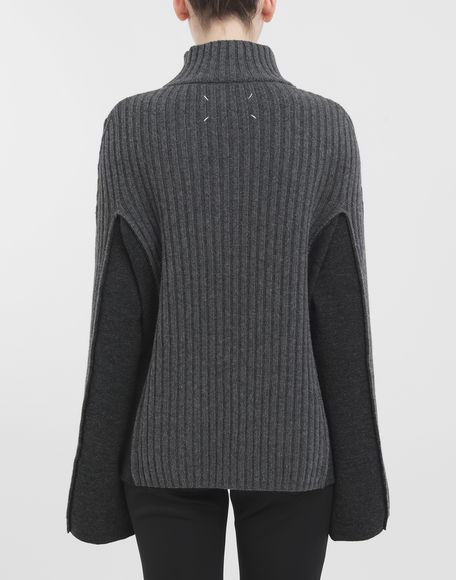 MAISON MARGIELA Turtleneck ribbed wool sweater High neck Woman d