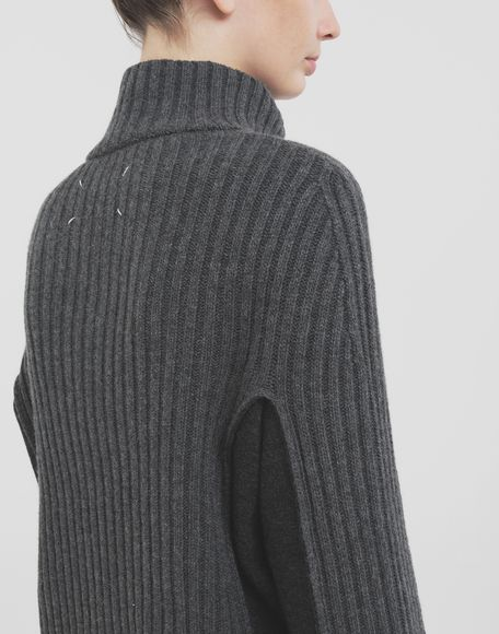 MAISON MARGIELA Turtleneck ribbed wool sweater High neck Woman e