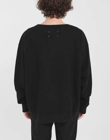 KNITWEAR Flower sweatshirt Black