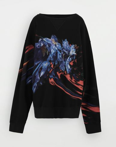 SWEATERS Flower sweatshirt Black