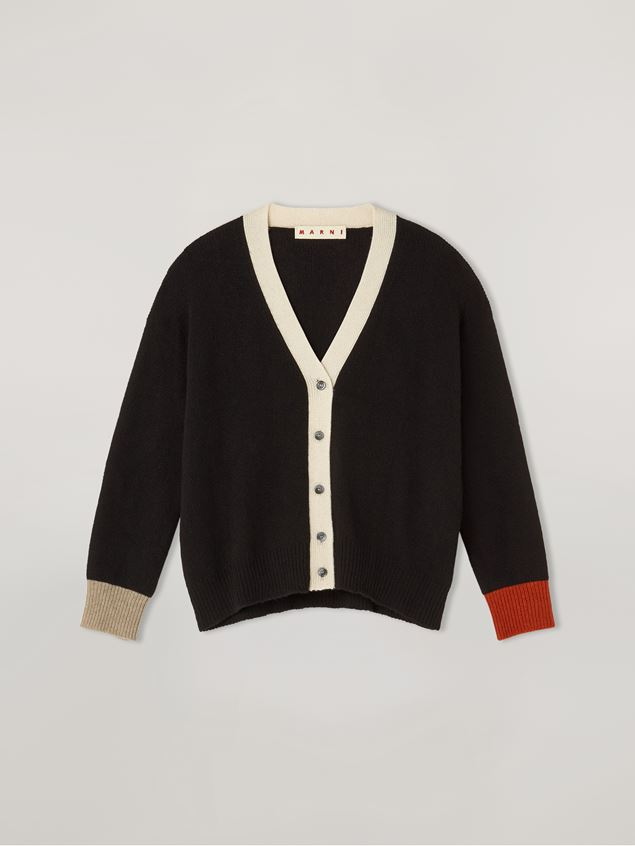 Marni Cardigan in cashmere with contrast buttoning and cuffs Woman - 2