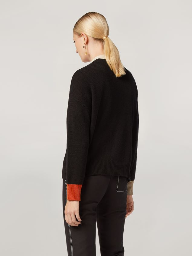 Marni Cardigan in cashmere with contrast buttoning and cuffs Woman - 3