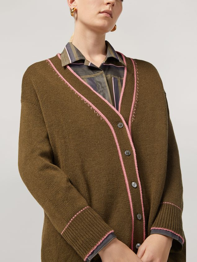 Marni Cardigan in cashmere with contrast detailing Woman - 4