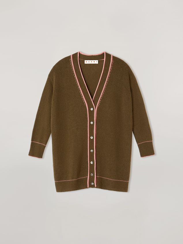 Marni Cardigan in cashmere with contrast detailing Woman - 2