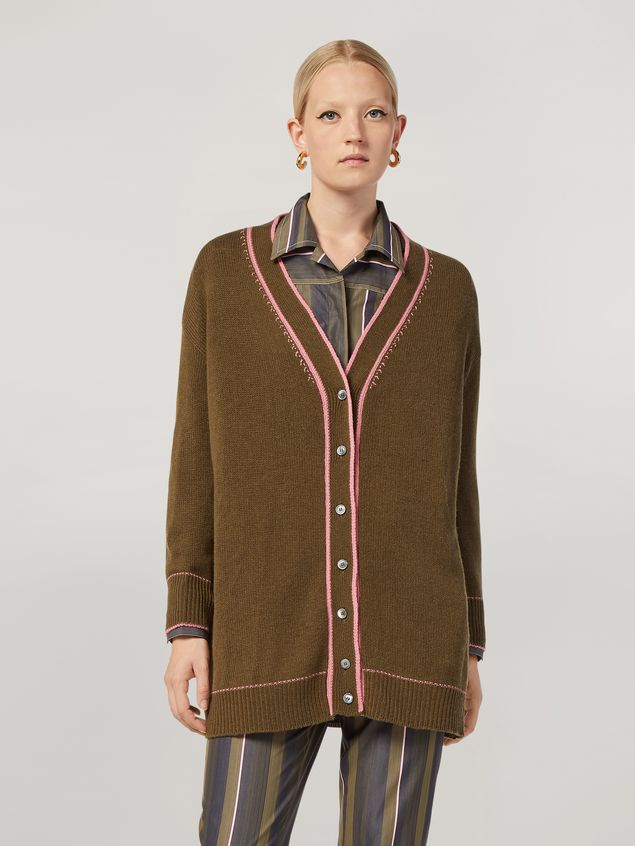 Marni Cardigan in cashmere with contrast detailing Woman - 1