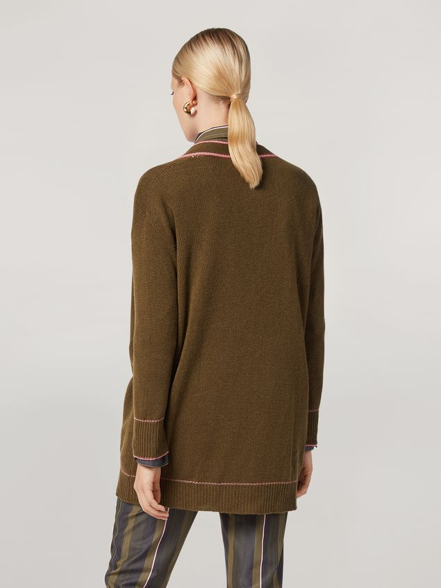Marni Cardigan in cashmere with contrast detailing Woman - 3