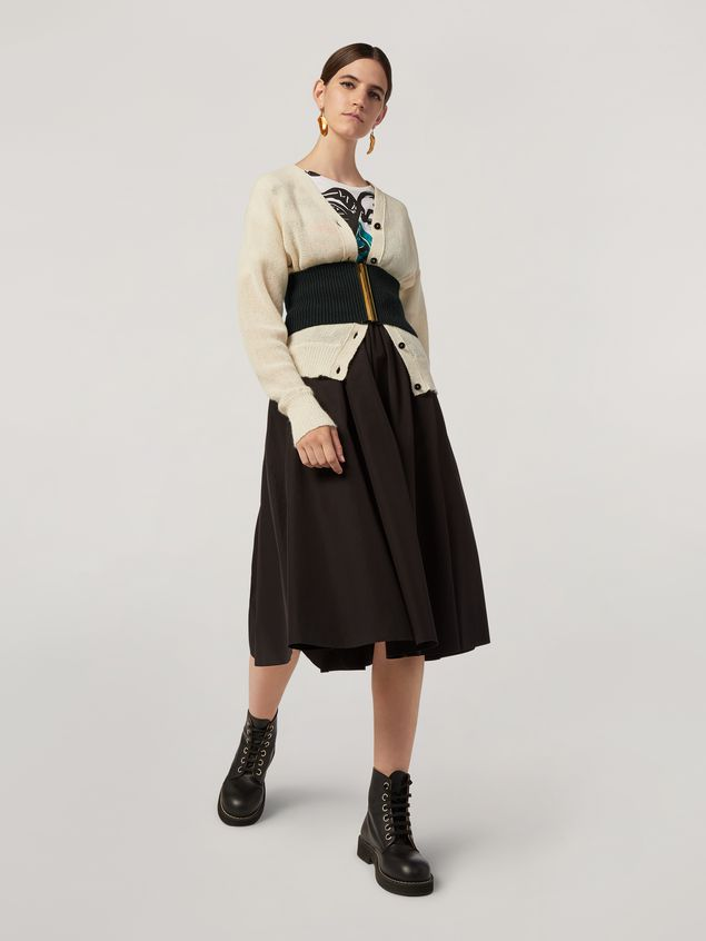Marni Cardigan in alpaca with abstract and floral pattern  Woman - 5