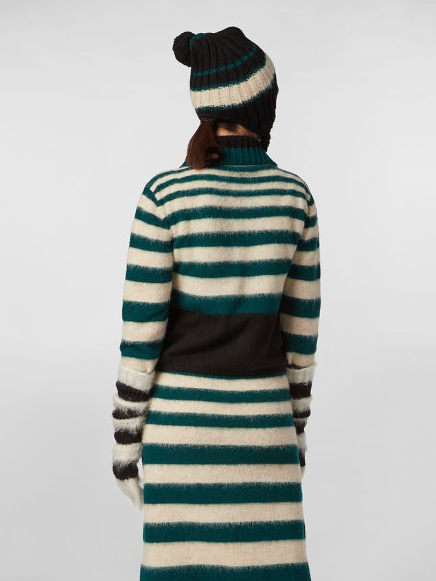 Marni Cardigan WANDERING IN STRIPES in lana e alpaca a righe degradé Donna