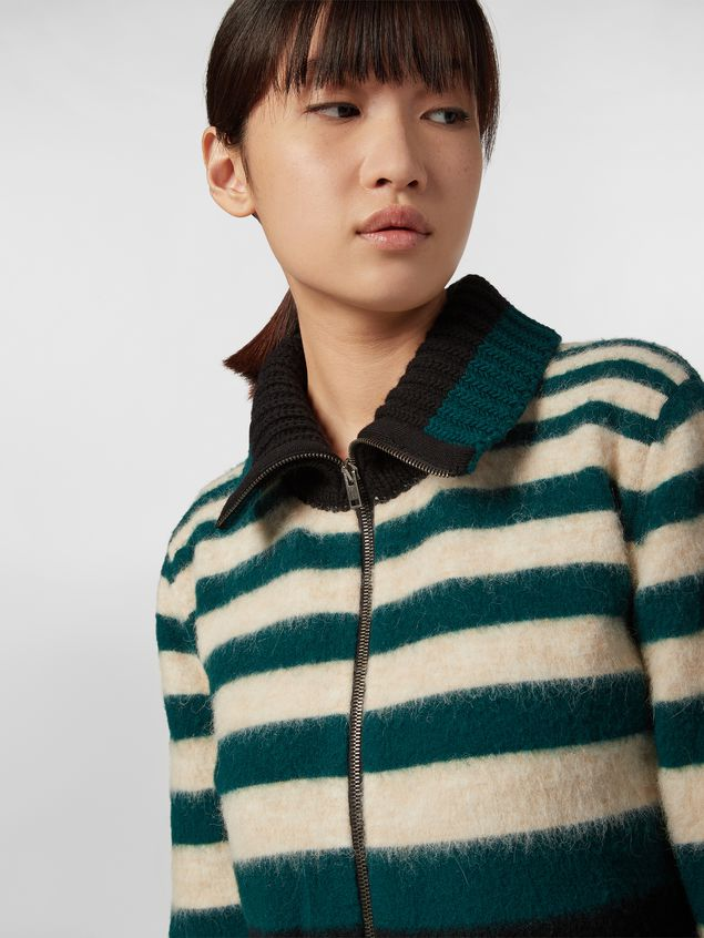 Marni Cardigan WANDERING IN STRIPES in lana e alpaca a righe degradé Donna - 4