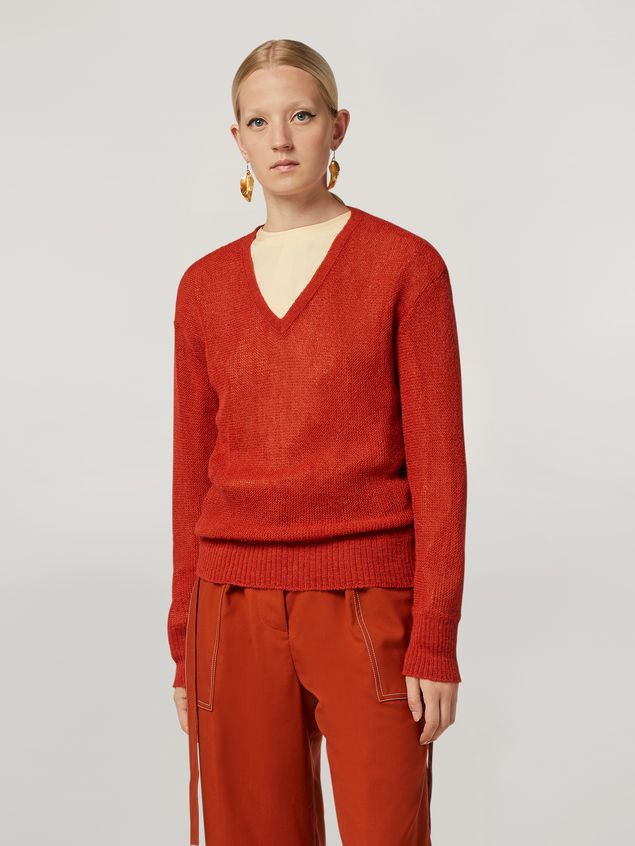 Marni Links boxy knit in alpaca Woman - 1