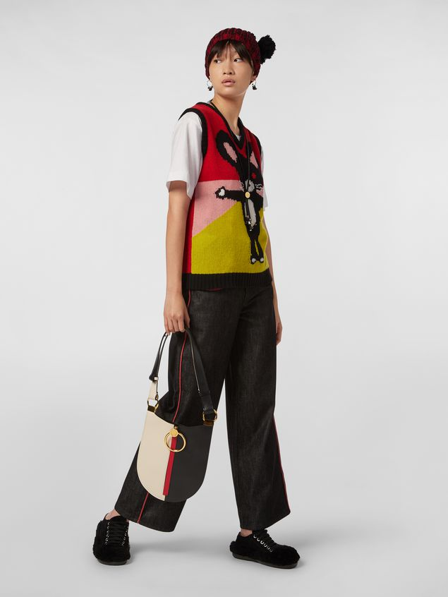 Marni CHINESE NEW YEAR 2020 vest in inlayed cashmere Woman - 5