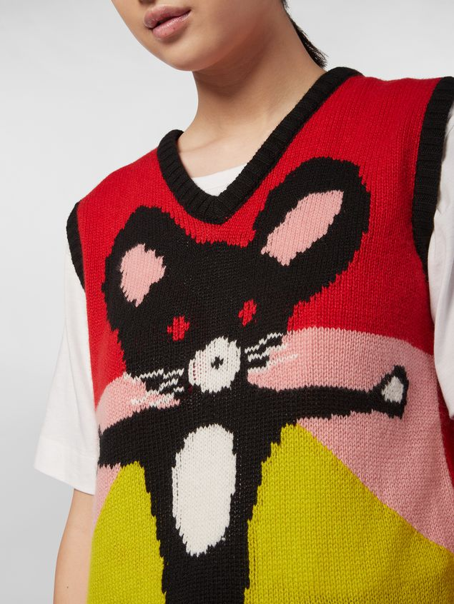 Marni CHINESE NEW YEAR 2020 vest in inlayed cashmere Woman - 4