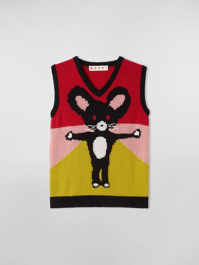 Marni CHINESE NEW YEAR 2020 vest in inlayed cashmere Woman - 2