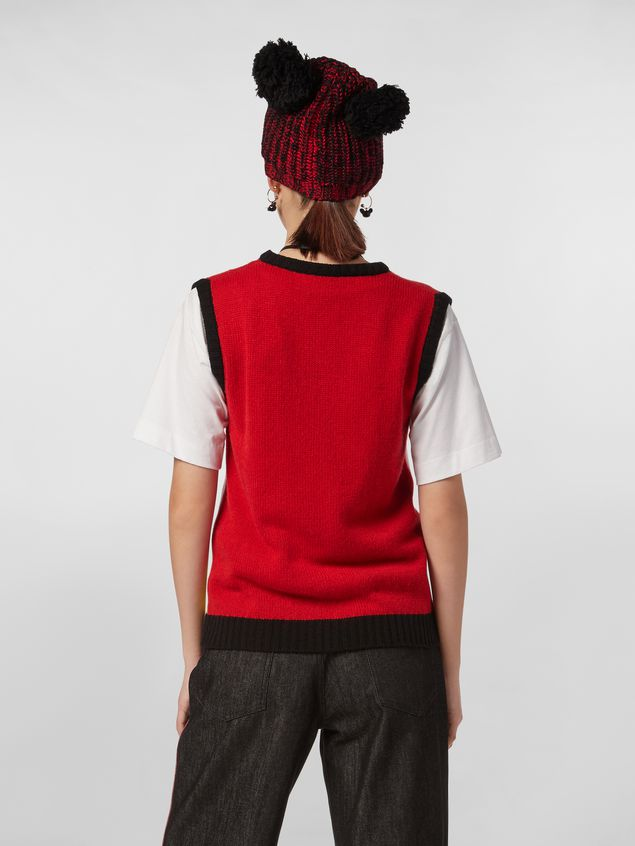 Marni CHINESE NEW YEAR 2020 vest in inlayed cashmere Woman - 3