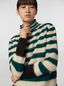 Marni WANDERING IN STRIPES thin-striped wool turtleneck knit and alpaca Woman - 4