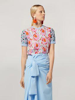 Marni Knit in cotton and nylon jacquard blue Woman