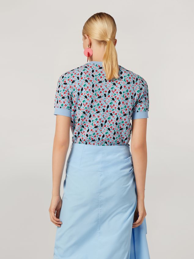 Marni Knit in cotton and nylon jacquard blue Woman