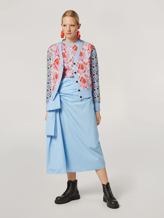 Marni Knit in cotton and nylon jacquard blue Woman - 5