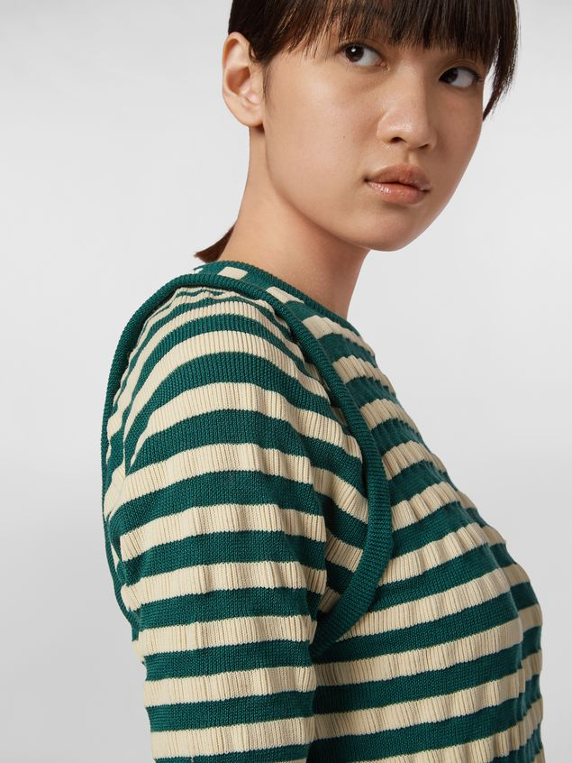 Marni WANDERING IN STRIPES wool striped knit with embossed effect Woman - 4
