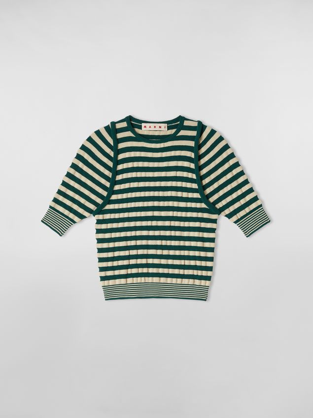 Marni WANDERING IN STRIPES striped-knit wool sweater with embossed effect Woman - 2