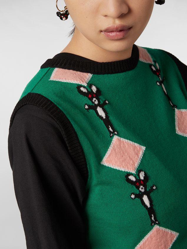 Marni CHINESE NEW YEAR 2020 inlayed wool knit Woman - 4