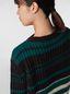 Marni WANDERING IN STRIPES crewneck knitted sweater in virgin and alpaca wool Woman - 4