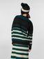 Marni WANDERING IN STRIPES crewneck knitted sweater in virgin and alpaca wool Woman - 3