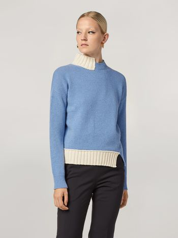 Marni Wool knit with contrasting-coloured cotton detailing Woman f