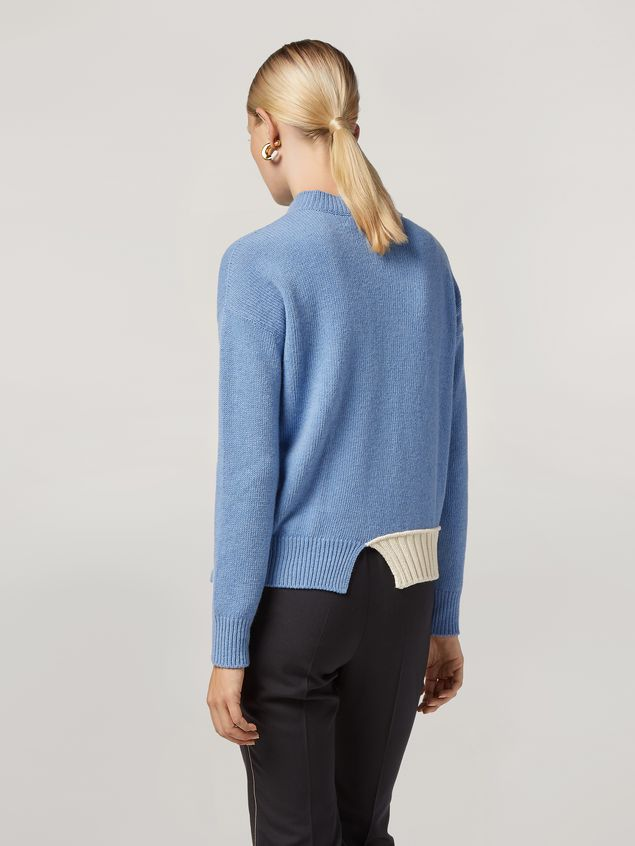 Marni Wool knit with contrasting-coloured cotton detailing Woman