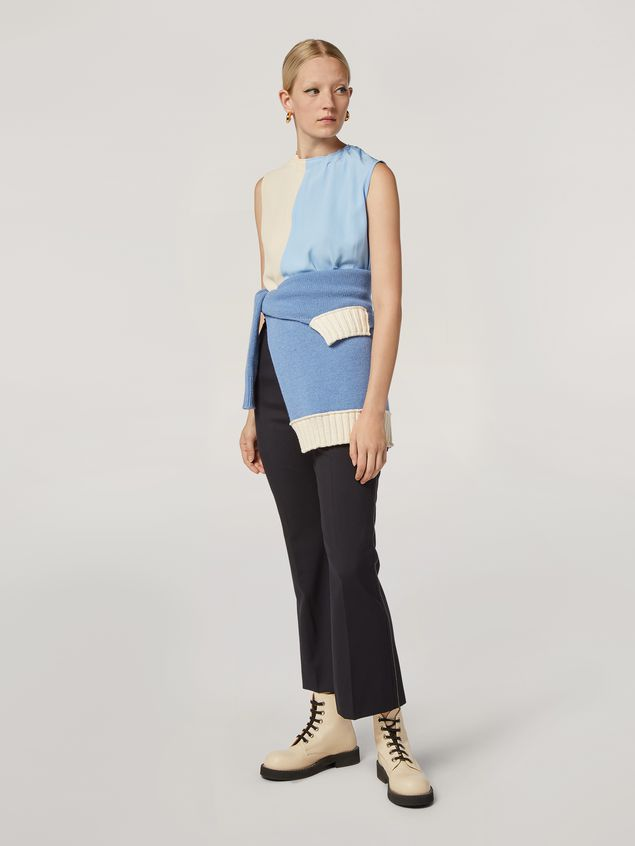 Marni Wool knit with contrasting-coloured cotton detailing Woman - 5