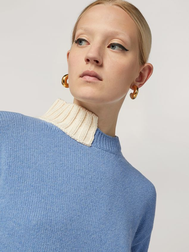 Marni Wool knit with contrasting-coloured cotton detailing Woman - 4