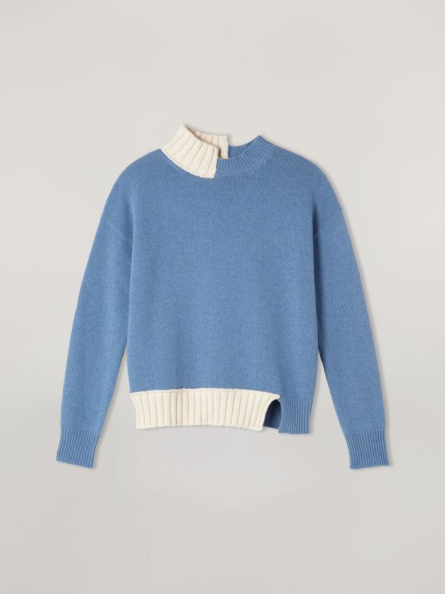 Marni Wool knit with contrasting-coloured cotton detailing Woman - 2