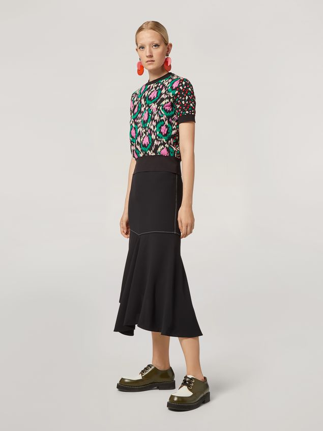 Marni Knit in cotton and nylon jacquard black Woman - 5