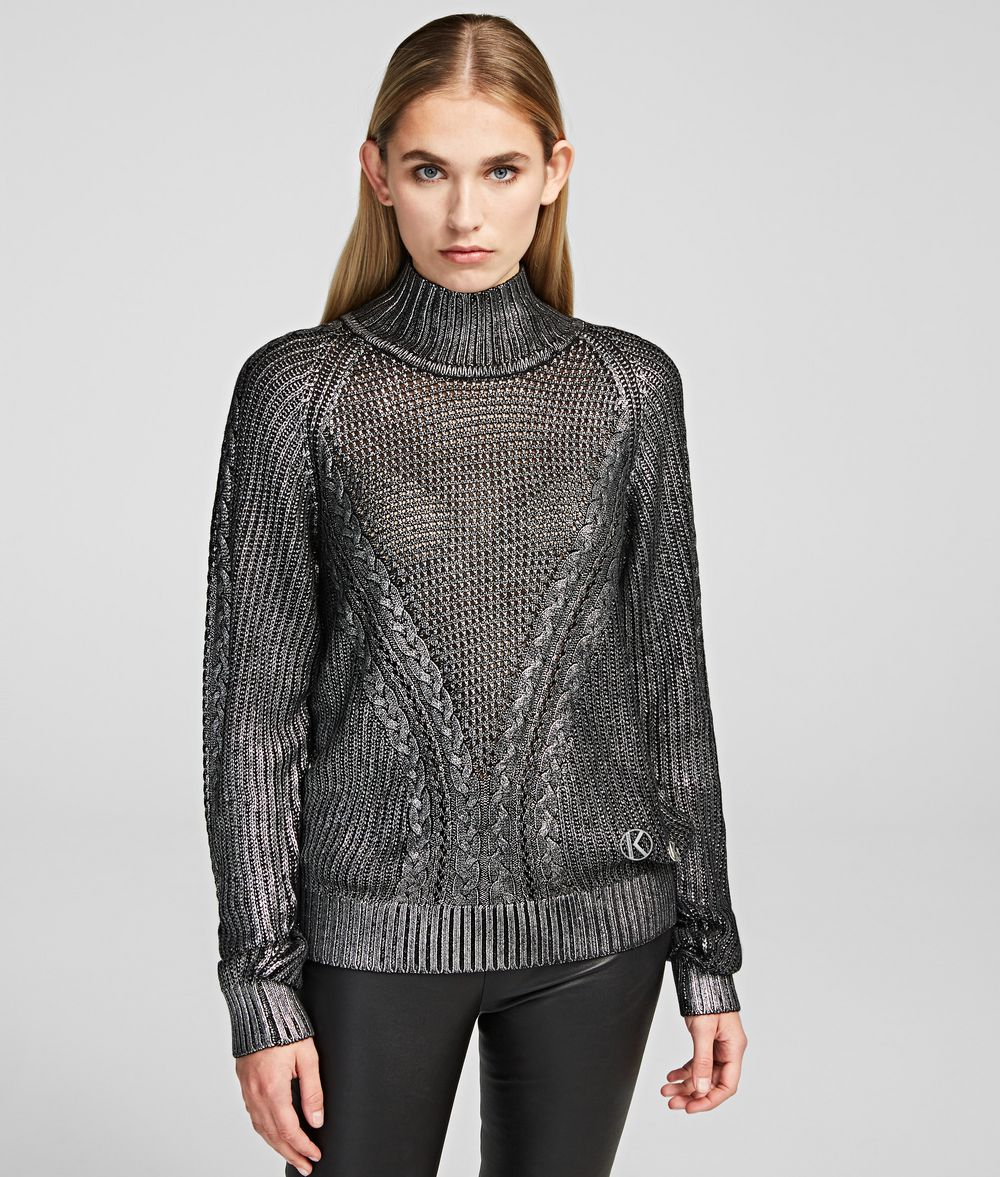 KARL LAGERFELD Coated Sweater Sweater Woman f