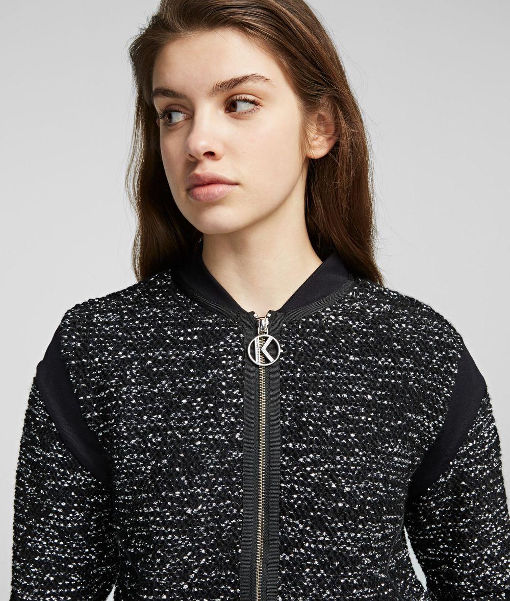 KARL LAGERFELD Lurex Cardigan Sweater Woman d