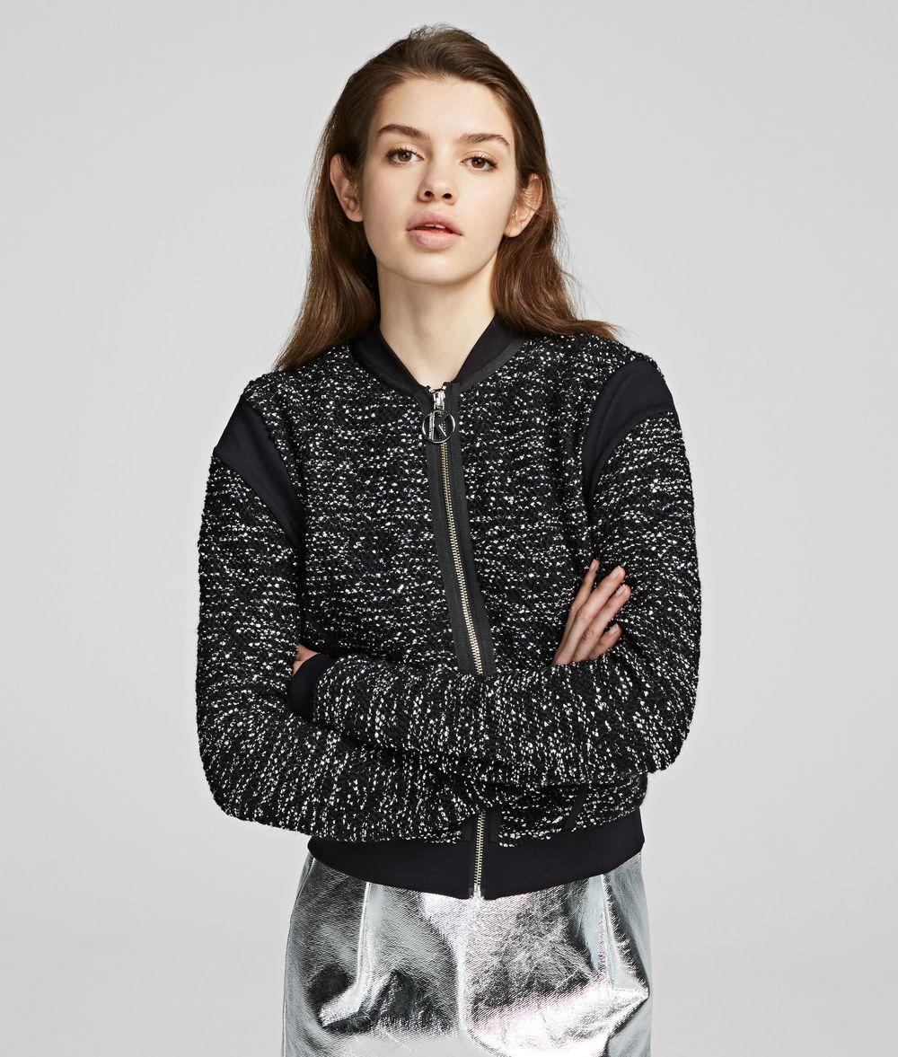 KARL LAGERFELD Lurex Cardigan Sweater Woman f