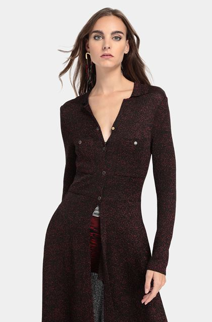 MISSONI Cardigan long Rouge Femme - Devant