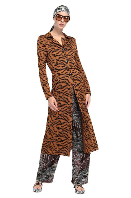 MISSONI Long cardigan Brown Woman - Back