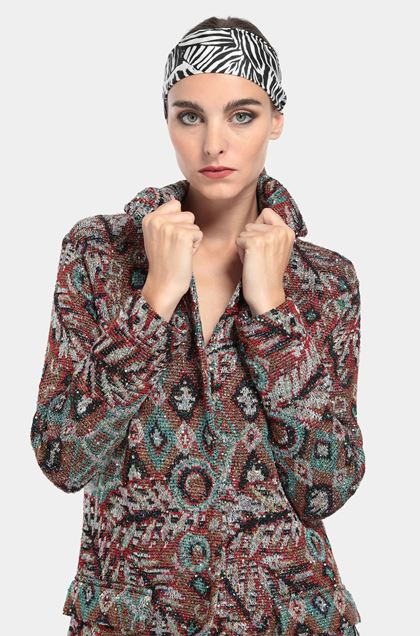 MISSONI Long cardigan Red Woman - Front