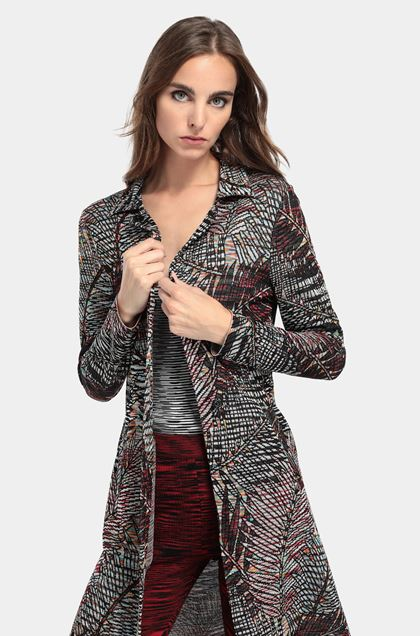 MISSONI Long cardigan Black Woman - Front