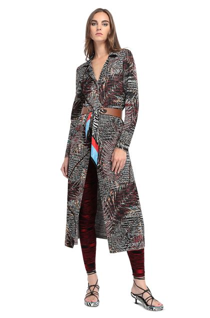 MISSONI Long cardigan Black Woman - Back