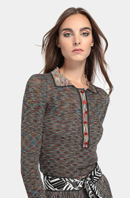 MISSONI Sweater Dark blue Woman - Front