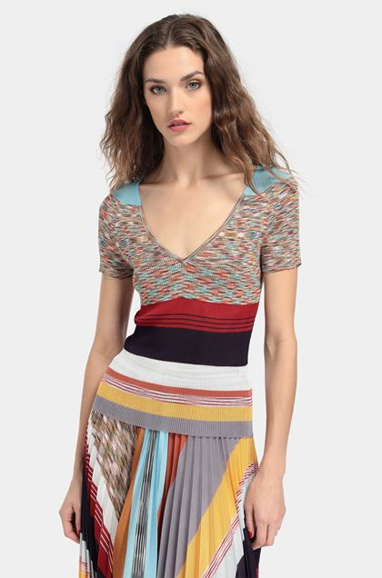 MISSONI V-Neck Red Woman - Front